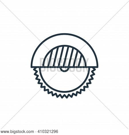 miter saw icon isolated on white background from carpentry collection. miter saw icon thin line outl