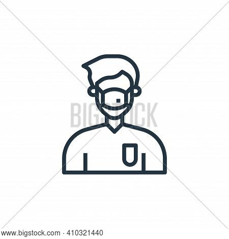 medical mask icon isolated on white background from coronavirus collection. medical mask icon thin l