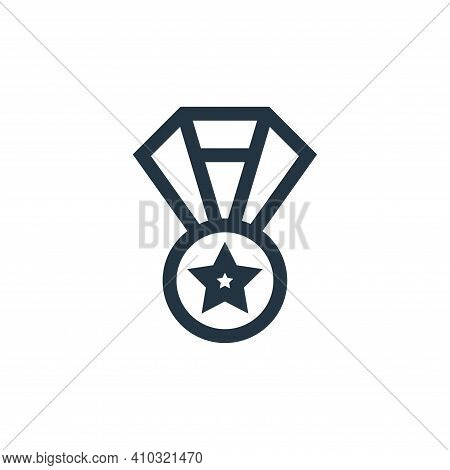 medal icon isolated on white background from job resume collection. medal icon thin line outline lin