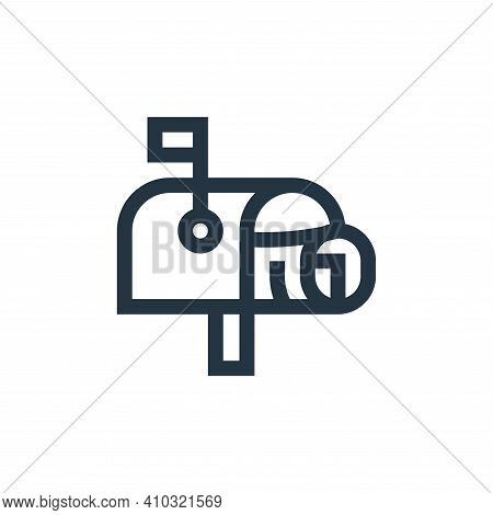 Mailbox Vector Icon From News Collection Isolated On White Background