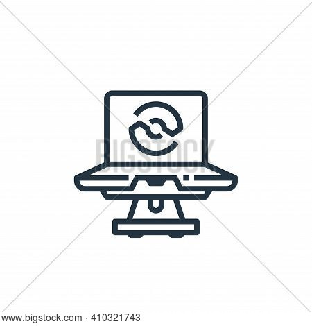 laptop icon isolated on white background from recycling collection. laptop icon thin line outline li