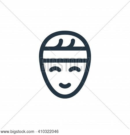 headband icon isolated on white background from pilates collection. headband icon thin line outline