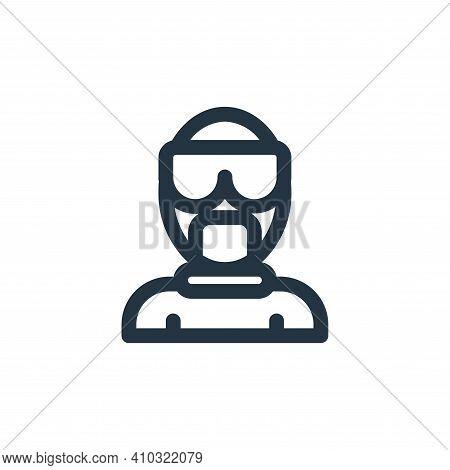hazmat icon isolated on white background from coronavirus collection. hazmat icon thin line outline