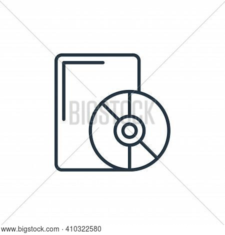 dvd icon isolated on white background from cinema collection. dvd icon thin line outline linear dvd