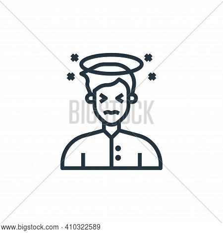 dizziness icon isolated on white background from coronavirus collection. dizziness icon thin line ou