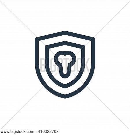 dental insurance icon isolated on white background from insurance collection. dental insurance icon