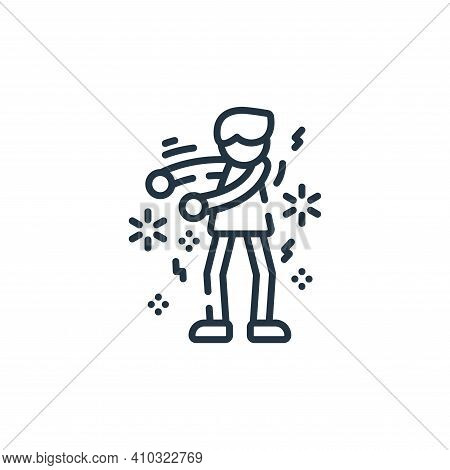 dance icon isolated on white background from celebration collection. dance icon thin line outline li