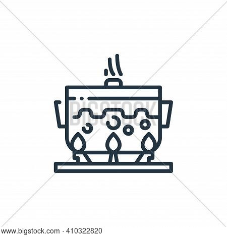 cooking icon isolated on white background from virus transmission collection. cooking icon thin line