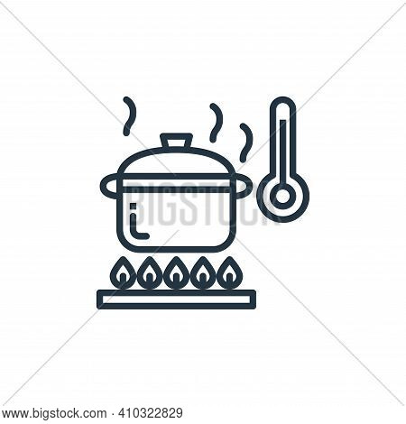 cooking icon isolated on white background from coronavirus collection. cooking icon thin line outlin