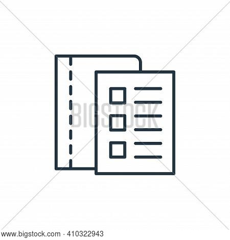 checklist icon isolated on white background from stationery collection. checklist icon thin line out