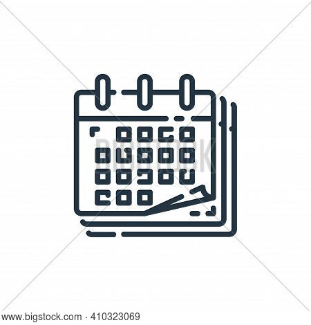 calendar icon isolated on white background from user interface collection. calendar icon thin line o