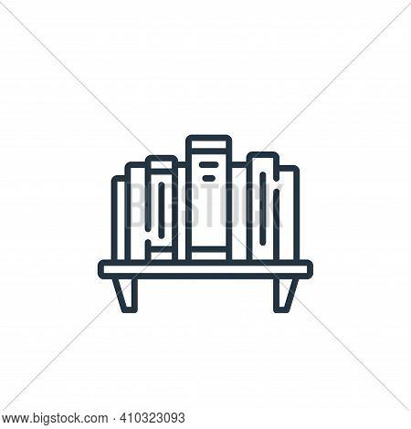 bookshelf icon isolated on white background from life skills collection. bookshelf icon thin line ou