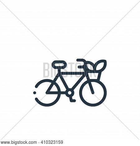 bike icon isolated on white background from ecology collection. bike icon thin line outline linear b