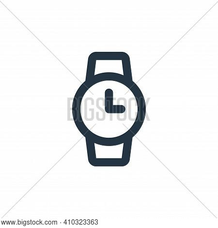 watch icon isolated on white background from user interface collection. watch icon thin line outline