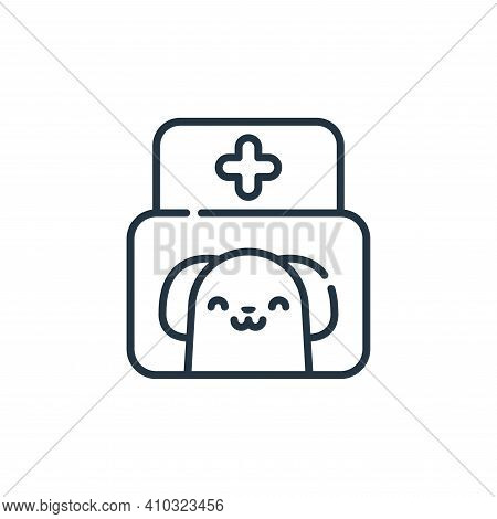 veterinary icon isolated on white background from animal welfare collection. veterinary icon thin li