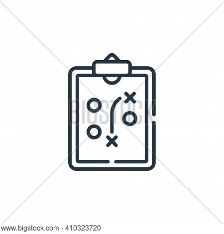 strategy icon isolated on white background from baseball collection. strategy icon thin line outline