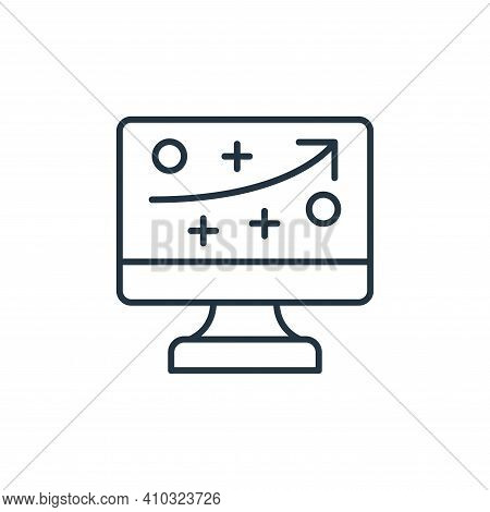 strategy icon isolated on white background from leadership collection. strategy icon thin line outli