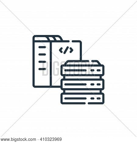 server icon isolated on white background from web development collection. server icon thin line outl