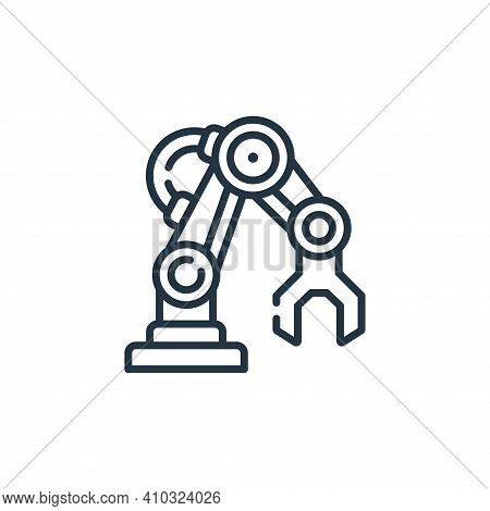 robotic arm icon isolated on white background from robotics collection. robotic arm icon thin line o
