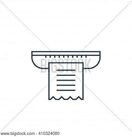 receipt icon isolated on white background from online shopping collection. receipt icon thin line ou