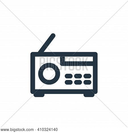 radio icon isolated on white background from multimedia collection. radio icon thin line outline lin