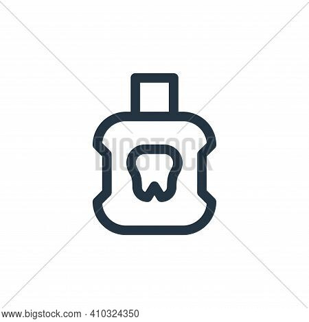 mouthwash icon isolated on white background from medicine collection. mouthwash icon thin line outli