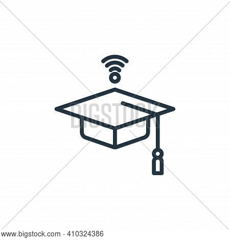 mortarboard icon isolated on white background from elearning collection. mortarboard icon thin line