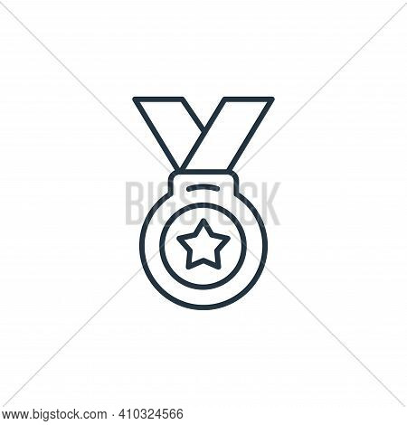 medal icon isolated on white background from leadership collection. medal icon thin line outline lin