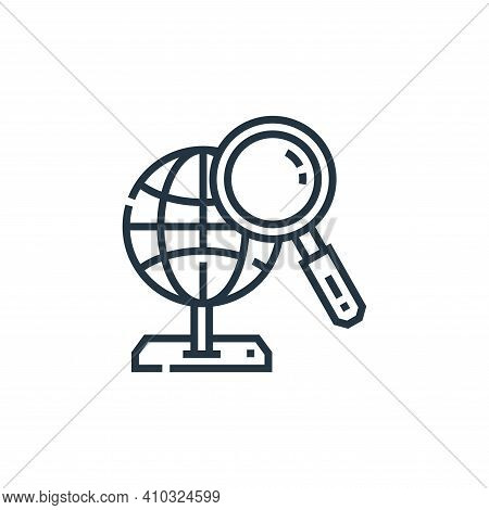 market icon isolated on white background from marketing collection. market icon thin line outline li
