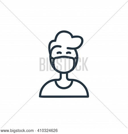 man icon isolated on white background from covid collection. man icon thin line outline linear man s
