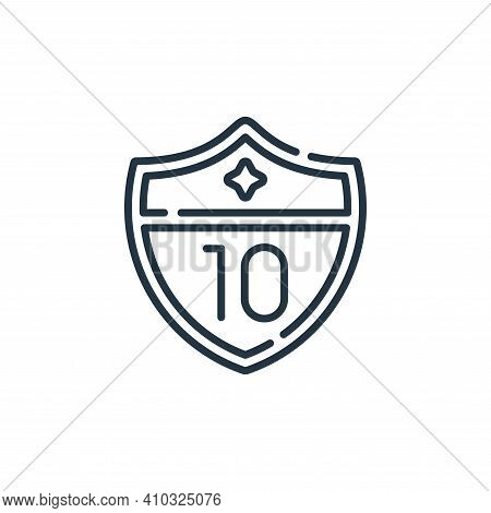 highway icon isolated on white background from navigation and maps collection. highway icon thin lin