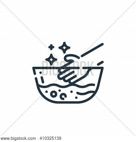 hand wash icon isolated on white background from cleaning collection. hand wash icon thin line outli