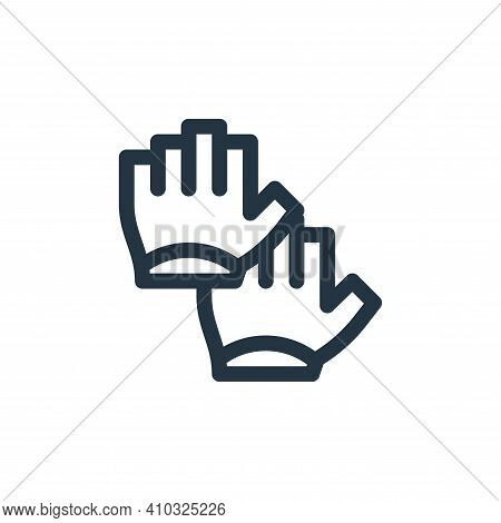 gloves icon isolated on white background from pilates collection. gloves icon thin line outline line