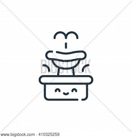 fountain icon isolated on white background from italy collection. fountain icon thin line outline li