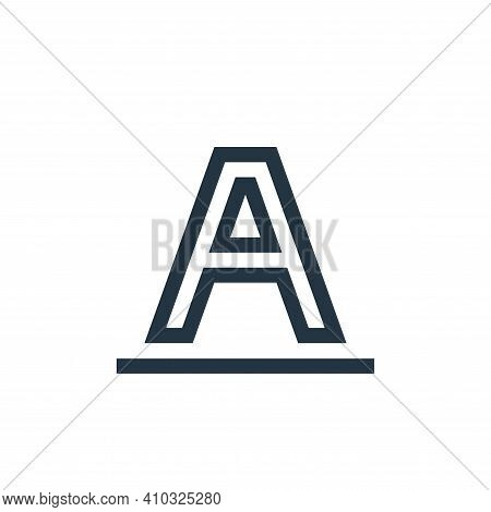 font icon isolated on white background from text editor collection. font icon thin line outline line
