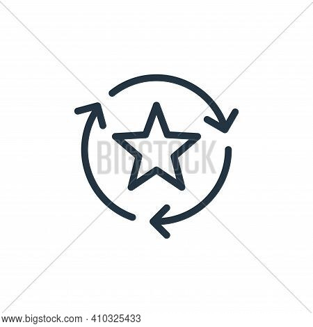 favorite icon isolated on white background from data transfer collection. favorite icon thin line ou
