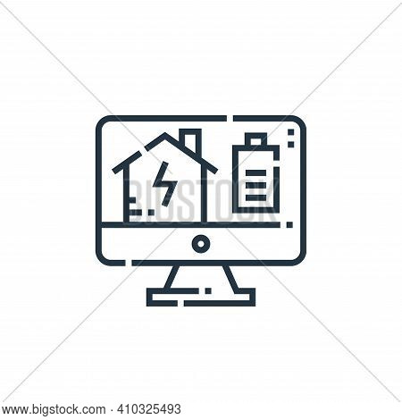 energy icon isolated on white background from smarthome collection. energy icon thin line outline li