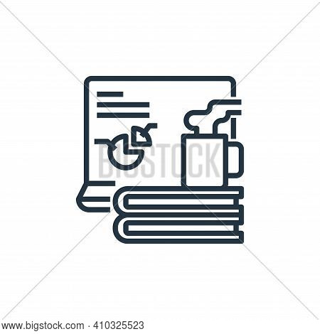 education icon isolated on white background from working from home collection. education icon thin l