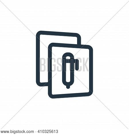 document icon isolated on white background from file and archive collection. document icon thin line