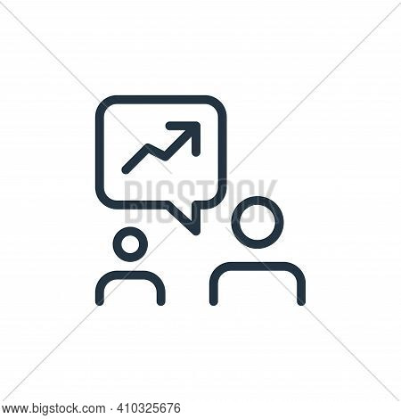 discussion icon isolated on white background from work office and meeting collection. discussion ico