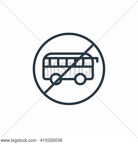 bus icon isolated on white background from stop virus collection. bus icon thin line outline linear