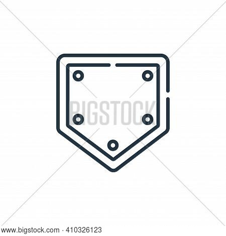 base icon isolated on white background from baseball collection. base icon thin line outline linear
