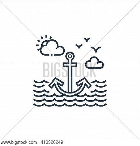anchor sign icon isolated on white background from tourism collection. anchor sign icon thin line ou