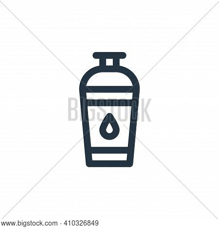water bottle icon isolated on white background from pilates collection. water bottle icon thin line