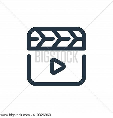 video icon isolated on white background from video collection. video icon thin line outline linear v