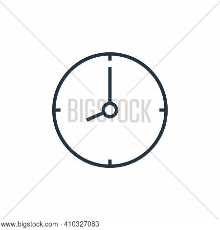 time icon isolated on white background from school collection. time icon thin line outline linear ti