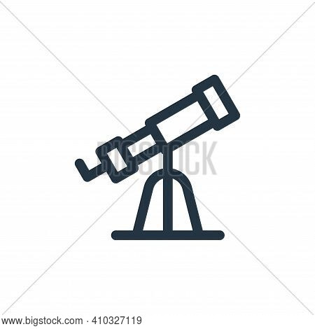 telescope icon isolated on white background from europe collection. telescope icon thin line outline
