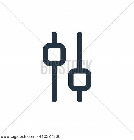 setting icon isolated on white background from interface collection. setting icon thin line outline