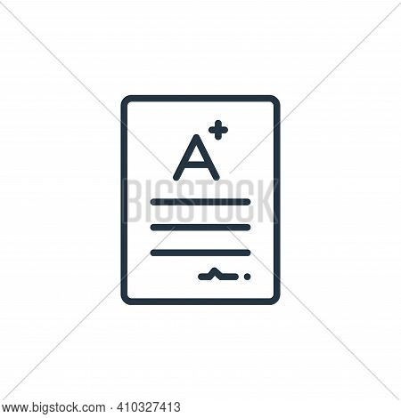 score icon isolated on white background from online learning collection. score icon thin line outlin