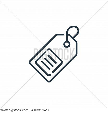 price tag icon isolated on white background from mall collection. price tag icon thin line outline l